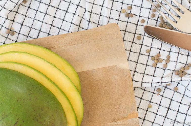Sommer, Sonne, Salat - Lauwarmer Spinatsalat mit Linsen, Mango und Feta_IV